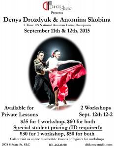 Deny and Antonina flyer 8x11 student discount