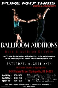 Pure Rhythms Auditions